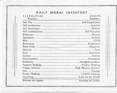 Printables 5th Step Worksheet origins of moral inventory aa the original way group old assets and liabilities list